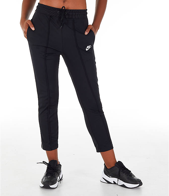 Front view of Women's Nike Sportswear Heritage Slim Pants in Black/White