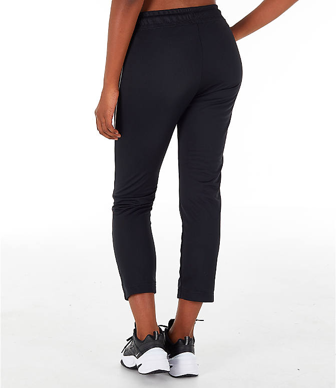 Back Left view of Women's Nike Sportswear Heritage Slim Pants in Black/White