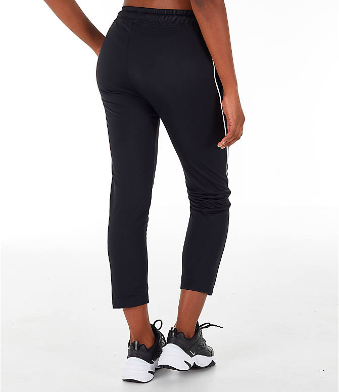 Back Right view of Women's Nike Sportswear Heritage Slim Pants in Black/White
