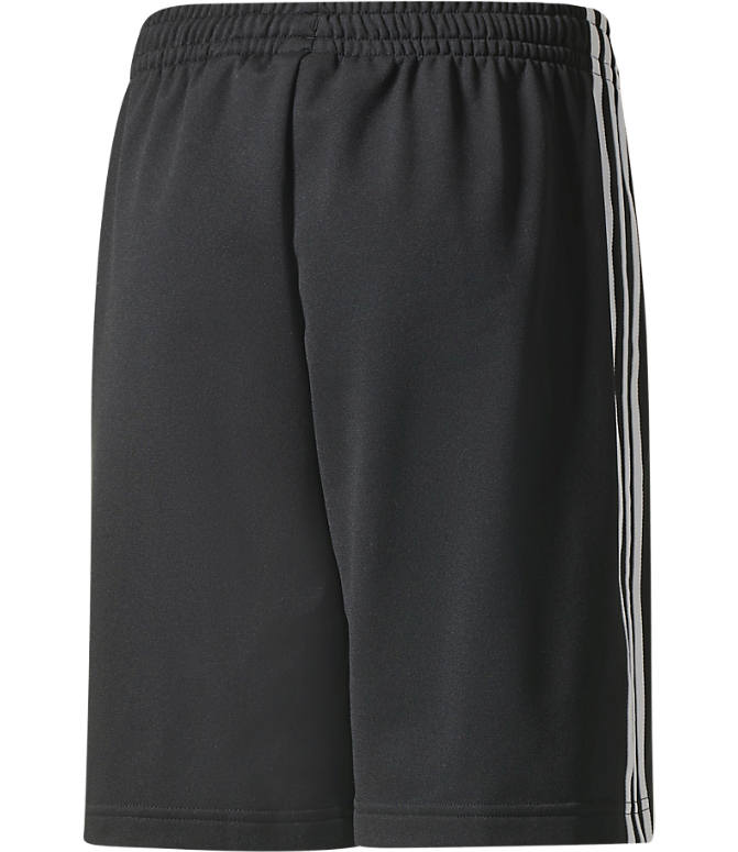 Back view of Boys' adidas Originals Superstar Shorts in Black/White