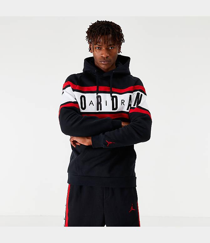 Men's Jordan Air Colorblocked Fleece Pullover Hoodie (Regular & Big)
