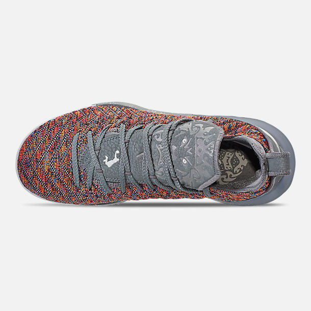 Top view of Men's Nike LeBron 16 Basketball Shoes in Multi-Color/Metallic Silver/Cool Grey