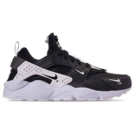 Men'S Huarache Premium Zip Casual Shoes, Black