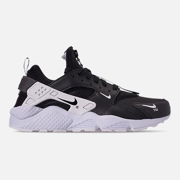 1b4ed00cb0d9 Right view of Men s Nike Huarache Premium Zip Casual Shoes in  Black Black White