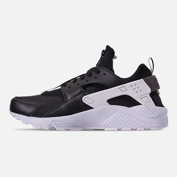 Left view of Men's Nike Huarache Premium Zip Casual Shoes in Black/Black/White
