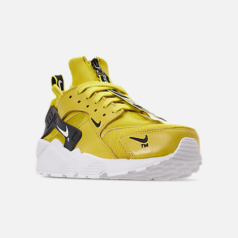 innovative design 55b51 0857c Three Quarter view of Men s Nike Huarache Premium Zip Casual Shoes in  Bright Citron White