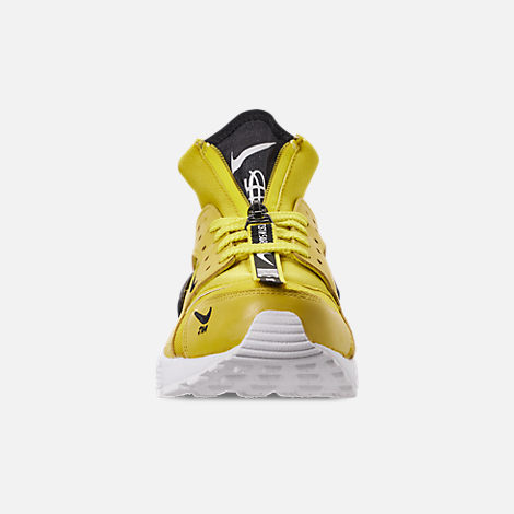 a8064ab60918 Front view of Men s Nike Huarache Premium Zip Casual Shoes in Bright Citron  White