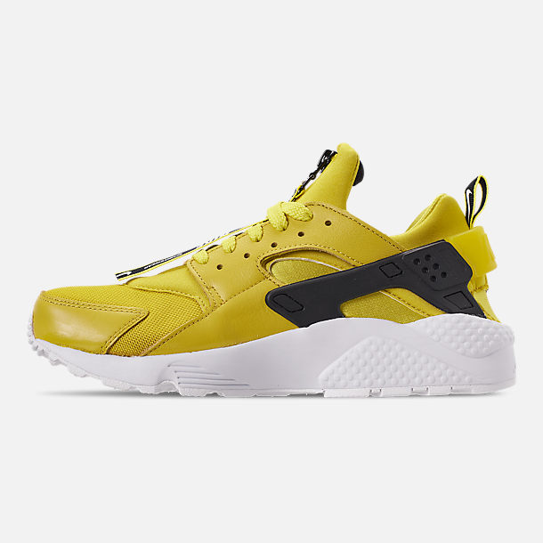 new arrival 0cf44 7ba7a Left view of Men s Nike Huarache Premium Zip Casual Shoes in Bright  Citron White