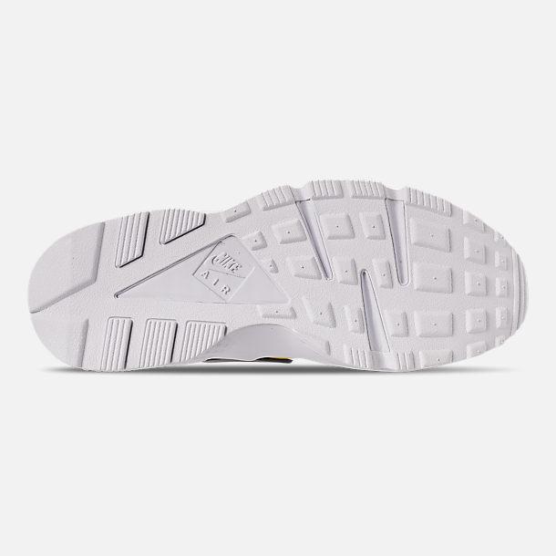 43639ad09fcb Bottom view of Men s Nike Huarache Premium Zip Casual Shoes in Bright  Citron White
