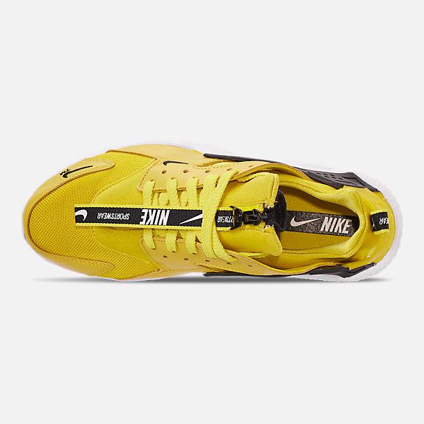 1d87cf17e7a80 Top view of Men s Nike Huarache Premium Zip Casual Shoes in Bright Citron  White