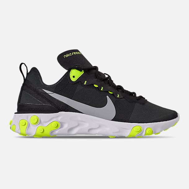 Right view of Men s Nike React Element 55 Casual Shoes in Black Wolf Grey  a663e517c