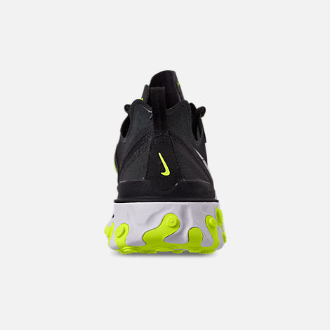 ffd22a3e5d17 Back view of Men s Nike React Element 55 Casual Shoes in Black Wolf Grey