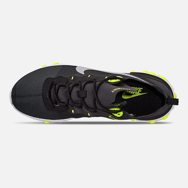 meet 91f2b 0aa44 Top view of Men s Nike React Element 55 Casual Shoes in Black Wolf Grey