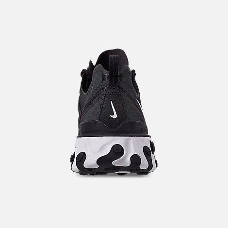Back view of Men's Nike React Element 55 Casual Shoes in Black/White