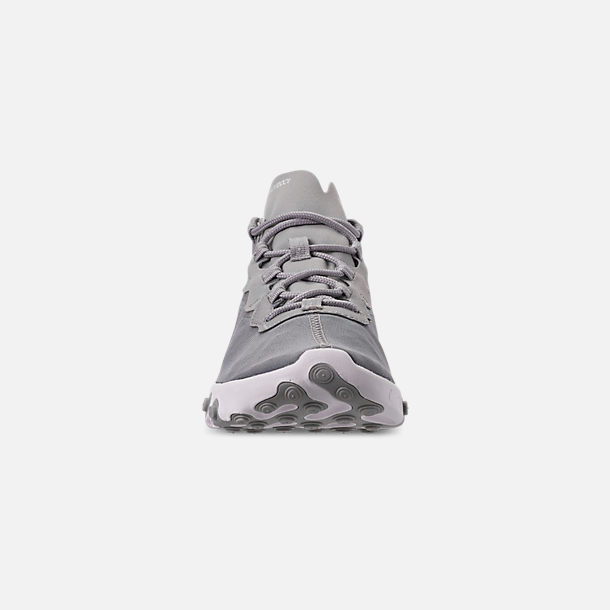 Front view of Men's Nike React Element 55 Casual Shoes in Metallic Silver/White/Black