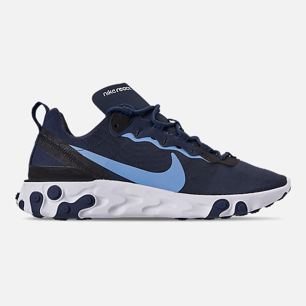93b9eac87d Right view of Men's Nike React Element 55 Casual Shoes in Midnight Navy/ Royal Pulse