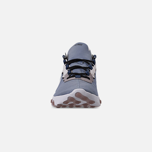 Front view of Men's Nike React Element 55 Casual Shoes in Indigo Fog/White/Mystic Navy