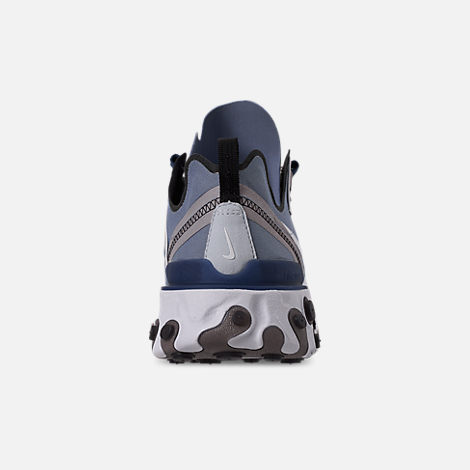 Back view of Men's Nike React Element 55 Casual Shoes in Indigo Fog/White/Mystic Navy