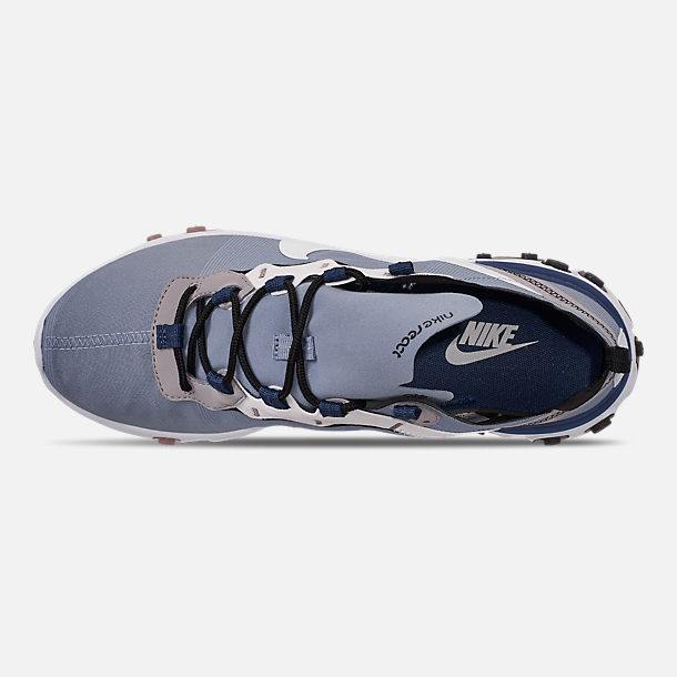 Top view of Men's Nike React Element 55 Casual Shoes in Indigo Fog/White/Mystic Navy