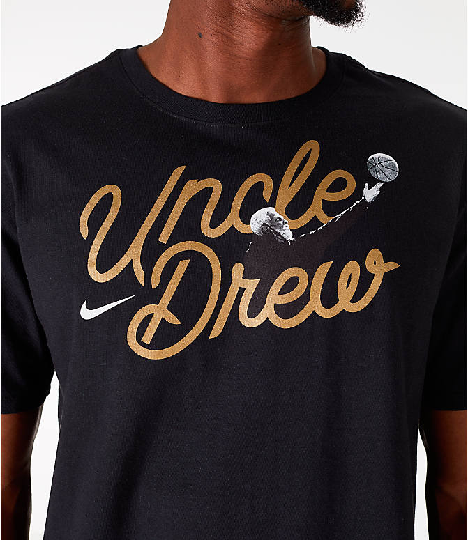 Detail 1 view of Men's Nike Kyrie Uncle Drew Script T-Shirt in Black