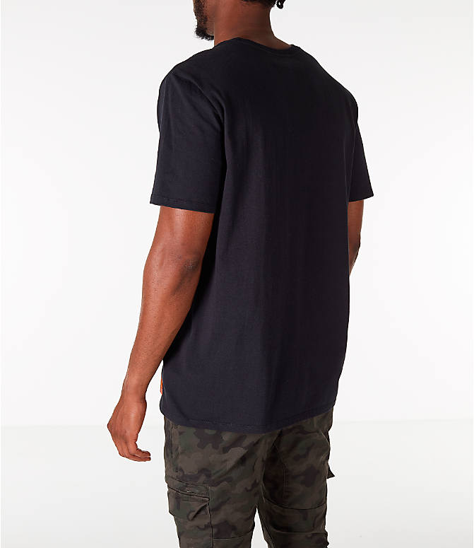 Back Left view of Men's Nike Kyrie Uncle Drew Script T-Shirt in Black