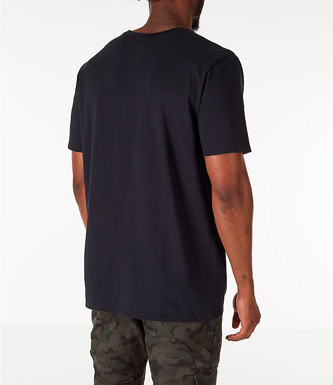 Back Right view of Men's Nike Kyrie Uncle Drew Script T-Shirt in Black