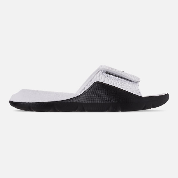 8473cffb56121b Right view of Men s Jordan Hydro 7 V2 Slide Sandals in White Black