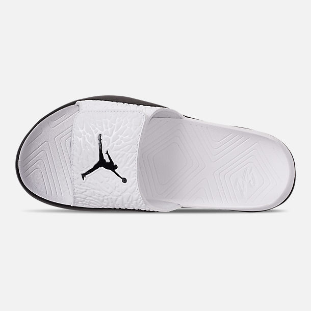 90a493ea9 Top view of Men s Jordan Hydro 7 V2 Slide Sandals in White Black