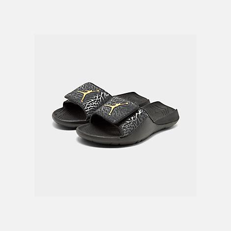 8307530bfac87 Three Quarter view of Boys  Big Kids  Air Jordan Hydro 7 V2 Slide Sandals