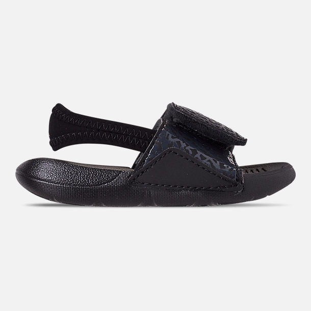 50c92bc9ce9be Right view of Boys  Toddler Air Jordan Hydro 7 V2 Slide Sandals in Black