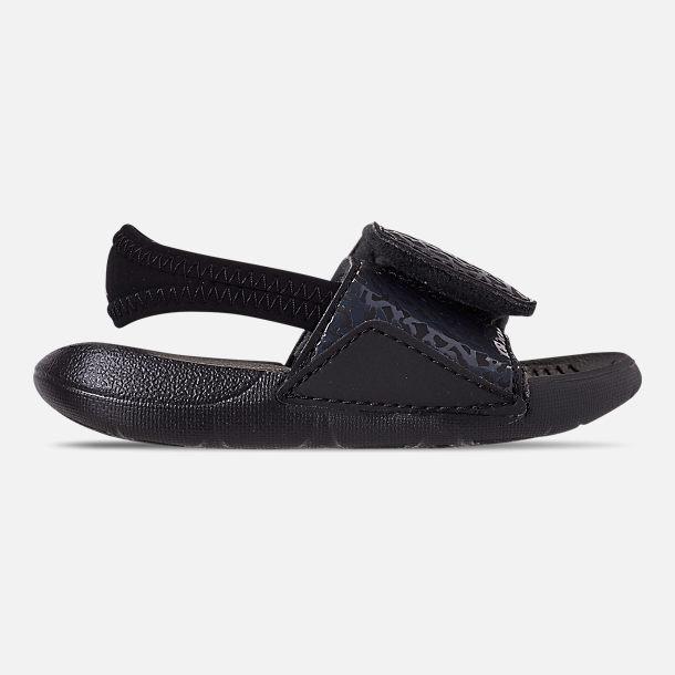1e50667519019 Right view of Boys  Toddler Air Jordan Hydro 7 V2 Slide Sandals in Black