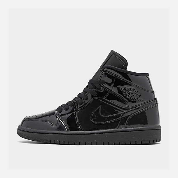 Right view of Women s Air Jordan 1 Mid SE Casual Shoes in Black Black  c14df85e3a