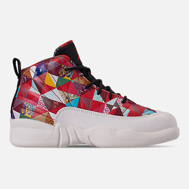 83806e62aaf22e Right view of Little Kids  Air Jordan Retro 12 Chinese New Year Basketball  Shoes in