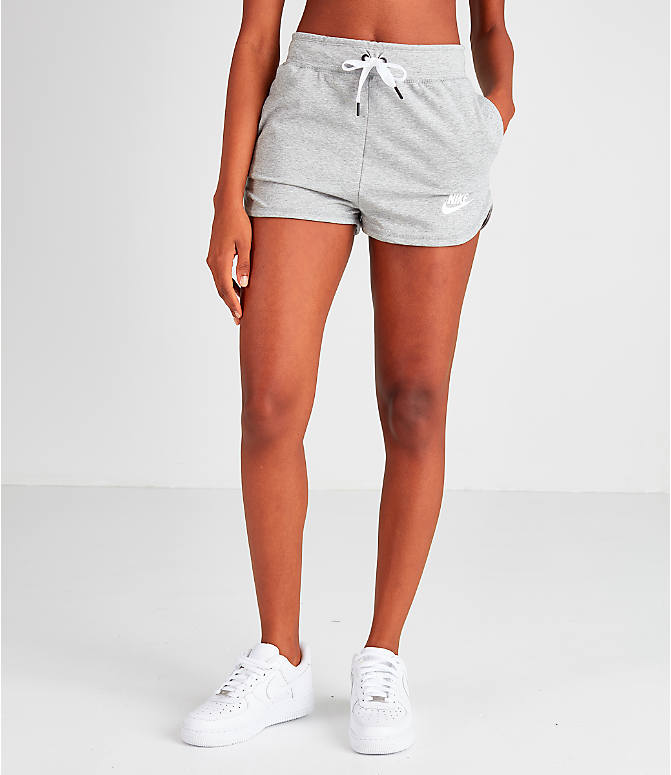 Front view of Women's Nike Air Shorts in Grey