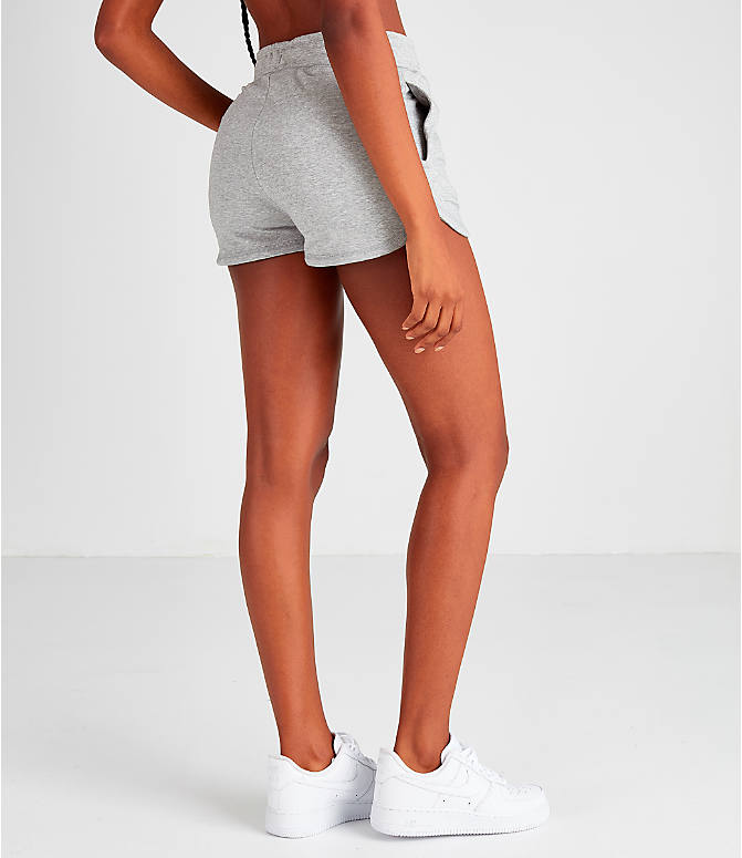 Back Right view of Women's Nike Air Shorts in Grey