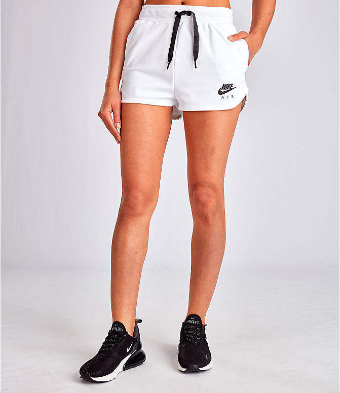 Front view of Women's Nike Air Shorts in White