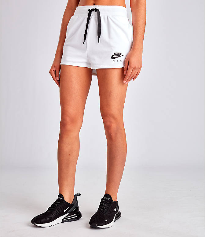 Front Three Quarter view of Women's Nike Air Shorts in White