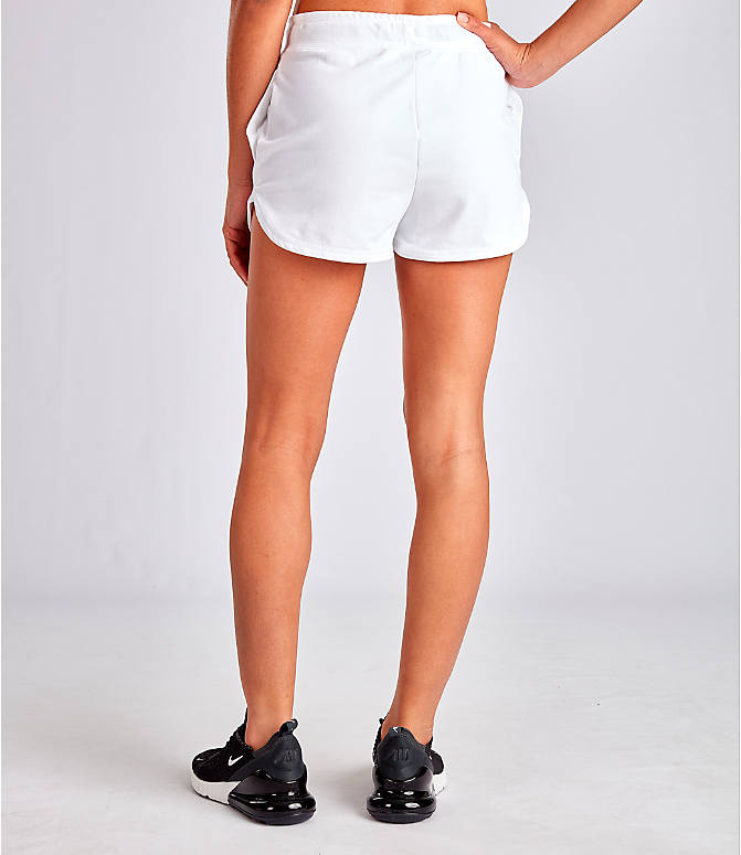 Back Left view of Women's Nike Air Shorts in White