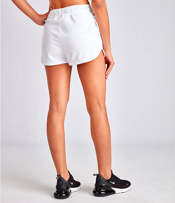 Back Right view of Women's Nike Air Shorts in White