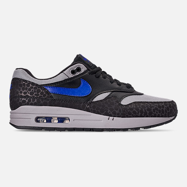 Right view of Men's Nike Air Max 1 SE Reflective Casual Shoes in Off Noir/Hyper Blue/Thunder Grey
