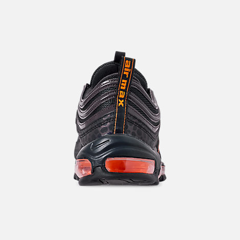 Back view of Men's Nike Air Max 97 SE Reflective Casual Shoes in Off Noir/Orange Terrace/Thunder Grey