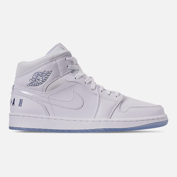 Men S Air Jordan 1 Mid Premium Basketball Shoes Finish Line