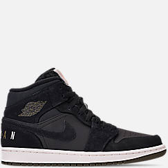 quite nice 84b98 f8f96 Men s Air Jordan 1 Mid Premium Fleece Basketball Shoes