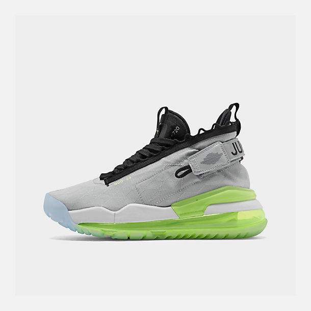 Right view of Men's Jordan Proto-Max 720 Casual Shoes in Wolf Grey/Black/Volt/Pure Platinum