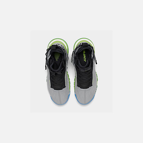 Back view of Men's Jordan Proto-Max 720 Casual Shoes in Wolf Grey/Black/Volt/Pure Platinum