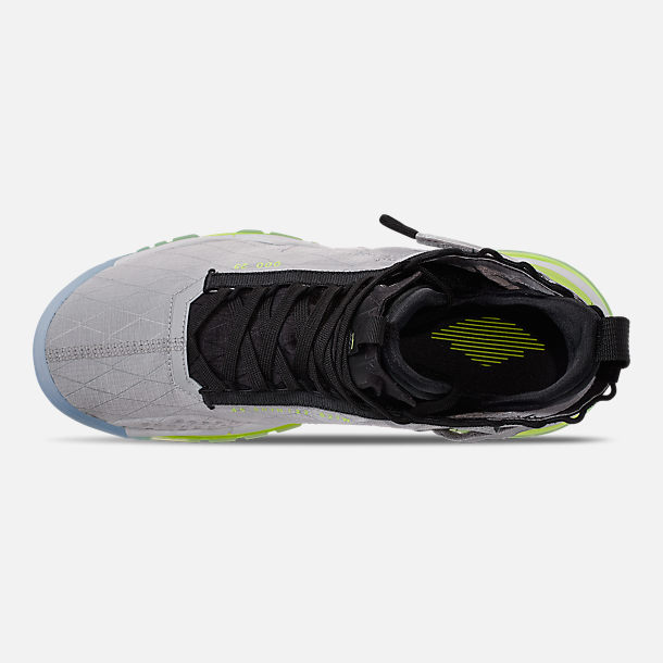 Top view of Men's Jordan Proto-Max 720 Casual Shoes in Wolf Grey/Black/Volt/Pure Platinum