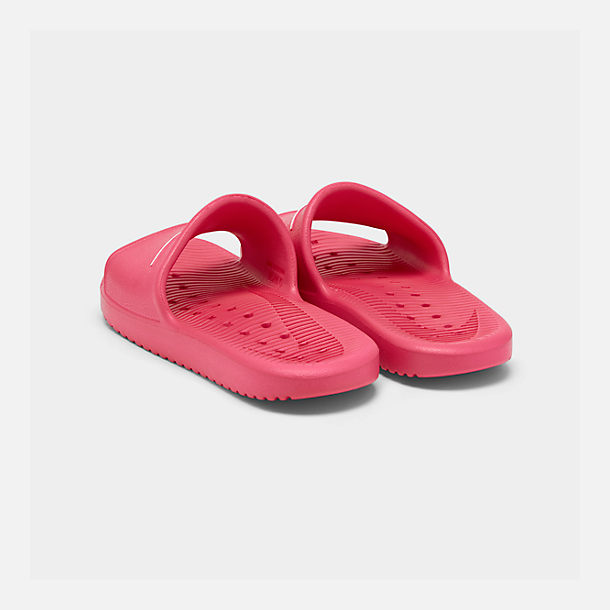 Left view of Girls' Nike Kawa Shower Slide Sandals in Rush Pink