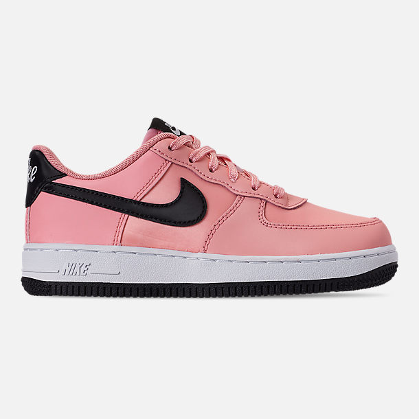 Right view of Girls' Little Kids' Nike Air Force 1 VDay Casual Shoes in Bleached Coral/Black/White