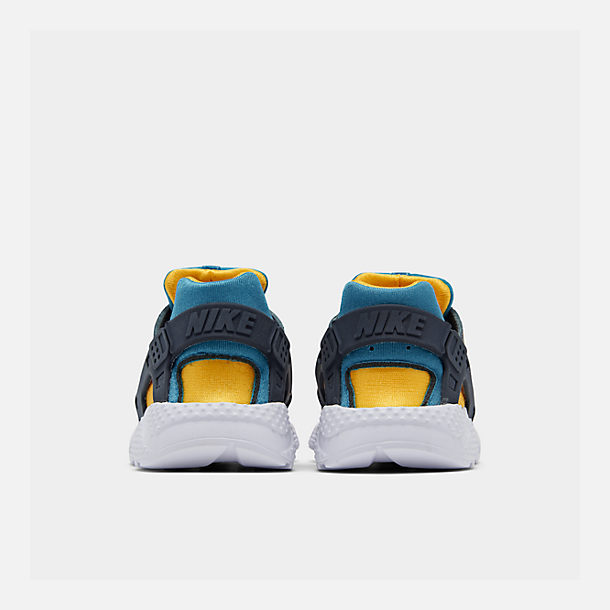Left view of Kids' Toddler Nike Huarache Run Now Casual Shoes in Bright Crimson/Obsidian/Photo Blue