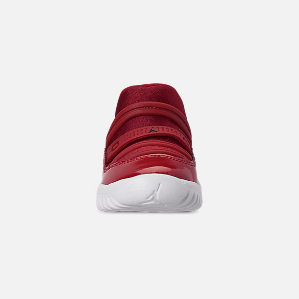 Front view of Boys' Toddler Air Jordan Retro 11 Little Flex Basketball Shoes in Gym Red/Black/White